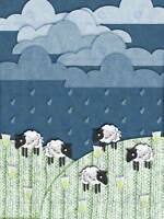 Highland Hill Sheep Craft Animals Picture Art Canvas Print