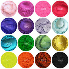 10 Piece Loose Eyeshadow Mica Pigment's Color Collection Sampler Mixed Set