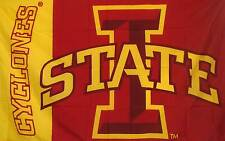 IOWA STATE CYCLONES Flag polyester grommets Banner Sign Display 3' X 5'