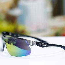 Sport Khan Outdoor Sunglasses Bike Shield Mirror UV 400 Shades Cycling New Mens