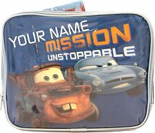 Disney Cars 2 Lunch Bag Mission Unstoppable  - PERSONALISED  School Lunch Box