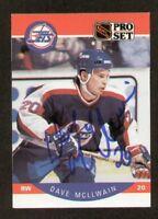 Dave McLlwain signed autograph 1990-91 Pro Set Card