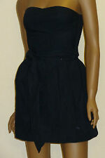 Abercrombie Fitch Victoria Dark Navy Blue Strapless Dress SIZE SMALL / S