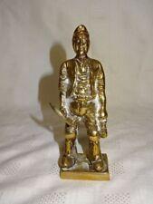 """Vintage Cast Brass 5.75"""" Model Of A Welsh Coal Miner (ref 1)"""