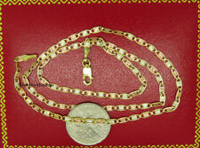"""**SOLID GOLD** Yellow Gold, Valentino Chain, Necklace, Lobster Clasp 24"""" 2.75mm"""