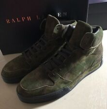 New $895 Men's Ralph Lauren Purple Label Suede Sneakers Boots Shoes Green 9 US