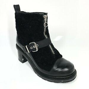 Hunter Heeled Black Limited Edition Boots UK7 EU40/41 Faux Fur (668 B15)