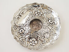 Antique Sterling Silver Inkwell Base Frederick Bradford McCrea London 1893