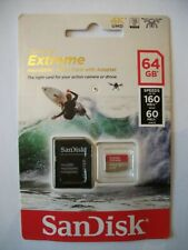 Sandisk Extreme Micro SDXC UHS Card & Adapter 64GB Speed 160MB/s Action Camera