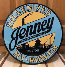 Jenney Gasoline Metal Wall Decor Oil Boston Garage Mancave Tire Batterie Pump