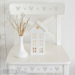 Vintage Heart Border Stencil Nursery Wall/Furniture Stencil -The Stencil Studio