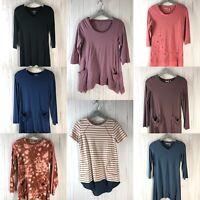 LOGO Lori Goldstein Lot of (8) Women's Size XXS Blouses Tunics Tops EUC