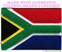 SOUTH AFRICA REPUBLIC FLAG PATCH EMBROIDERED SOUVENIR w/ VELCRO® Brand Fastener