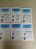 TOTTENHAM HOTSPUR HOME PROGRAMMES 1962-63 ~ YOU CHOOSE OPPONENTS FREE POSTAGE