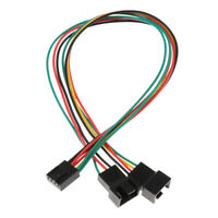 4pin Female to 2 Male Wire Y Splitter PC Cooling Fan Connector Adapter Cable