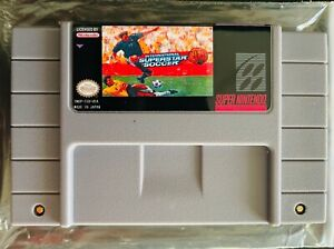International Superstar Soccer DeLuxe Action Super Snes Game Usa Cartridge NTSC