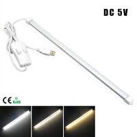 Portátil USB LED luz tira rígid  DC5V 60LEDs 10W Interruptor lámpara escritorio