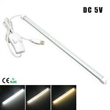 Portable USB LED Bar lights Rigid Strip Night DC5V 60LEDs 10W Desk Lamp Switch