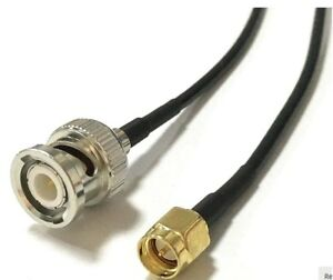 BNC Male to SMA Male Pigtail Extension Cable 1m RG174