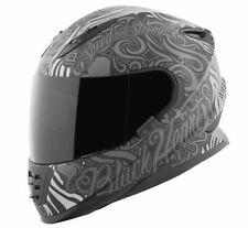 Speed & Strength SS1310 Black Heart Sport Street Motorcycle Helmet Black X-Large