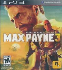 Max Payne 3 PS3 Complete NM Play Station 3, video games