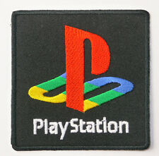SONY PLAYSTATION 1 2 3 4 Video Game Logo Embroidered Iron-On Patch / Badge Bag