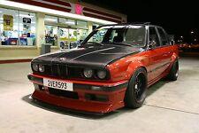 BMW 3 E30 FENDER FLARES 4 PCS + DUCKTAIL SPOILER FOR DRIFT / RACE