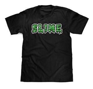 Slime Green Bandana Slatt Black T-Shirt