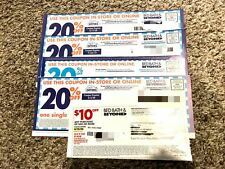 Bed Bath Beyond Coupons 20% off Single Item (4). $10 off $30 (1)