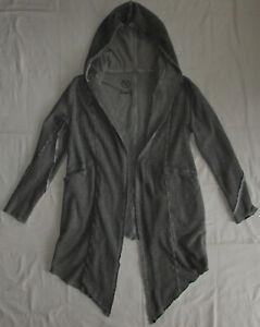 *BOOM BAP* extravagante ZipfelJacke Mantel Gr. XL mit Kapuze Grau Maße im Text