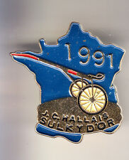 RARE PINS PIN'S .. SPORT CHEVAL HORSE HIPPISME TROT SULKY OR HALLAIS 1991 ~CM
