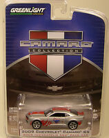 SILVER 2009 CAMARO SS INDY 500 PACE CAR GREENLIGHT 1:64 SCALE DIECAST METAL CAR