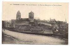 fougères  vue sur le chateau ,la tour des gobelins et la tour de coigny