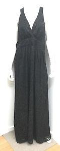 NWT ~ CITY CHIC Black Maxi Jacquard Geo dress ~ Plus Size M 18