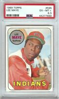 Lee Maye 1969 Topps Vintage Baseball Card Graded PSA 6.5 EX-MT+ Reds #595