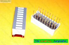 10x LED Super RED Bar Graph Array 10-Segs (for VU Meter Arduino Bargraph) - USA