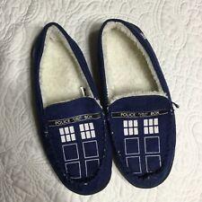 Doctor Who Plush Tardis Bule Slipper Adult LG  (10)