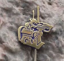 Antique Metal Lathe Machine Tool Heavy Metalwork Equipment Company Pin Badge