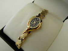 "Elgin Women""s Stainless Steel Gold Watch With Swarovski Crystals Gift Box FG4497"