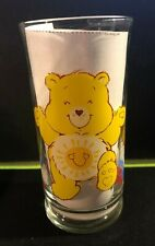 CARE BEARS 1983 Pizza Hut Collector's Beverage Glass FUNSHINE BEAR Hugs Welcome