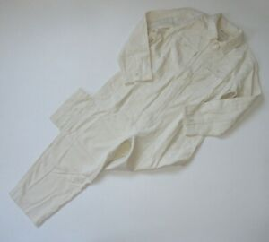 NWT Madewell Garment Dyed Zip Front Coverall in Antique Cream Jumpsuit S