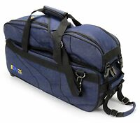 KAZE 3 Ball Bowling Bag Triple Tote Tournament Roller Detachable Shoe Pocket