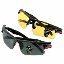 SET OF 2 PAIRS Day & Night Vision HD Sunglasses UV400 Driving Glasses Eyewear