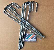 Steel J Pins Turf Mesh Garden UPIN 285mm x 60mm x 50mm x 6mm Ribbed Galvanized