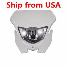 White Dirt Bike Off-Road Dual Sport Motorbike Headlight For Honda Custom CR CRF