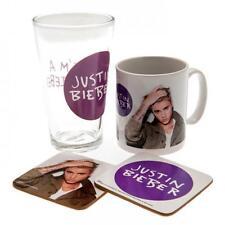 Official Licensed Product Justin Bieber Gift Set Glass Mug Cup Mug Coaster Box