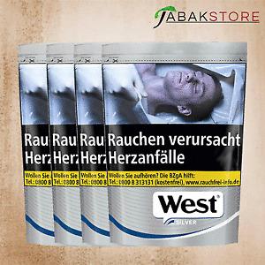4x West Silver 19,95 Euro   96 Gramm Tabak
