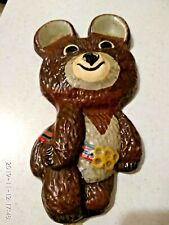 Metal souvenire MISHA BEAR mascote Olympic games Olympics Moscow 1980.USSR.