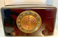 Vintage Admiral Radio Phonograph Record Player Model 6S12N Art Deco