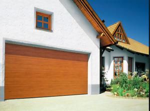 SECTIONAL GARAGE DOOR ELECTRIC 15FT X 7FT OAK WAS £968 SALE PRICE £ 799